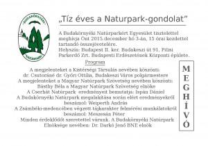 Natúrpark meghívó. 2